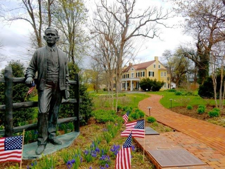 "George Marshall: local Leesburg hero, Nobel Peace Prize winner, hailed as the ""organizer of…"