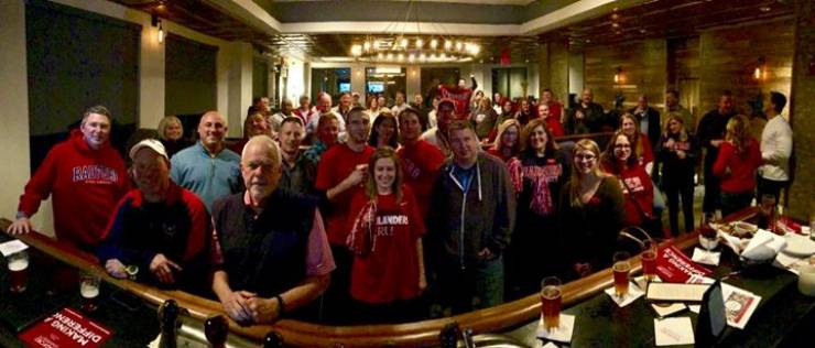 GO HIGHLANDERS! Radford Alumni watched the big game at Dog Money with alumni owner…