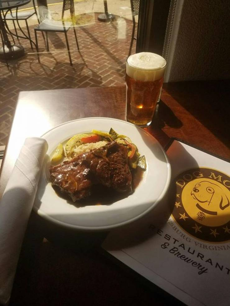 Current Special: Chef Ganzer's delectable Petite Lamb Chops (8 oz) with a Malty IPA…