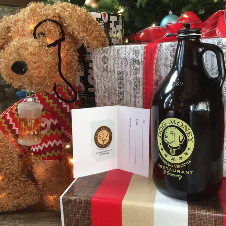 Everybody Loves Money Under The Tree! Gift Cards and Growlers from Dog Money -…