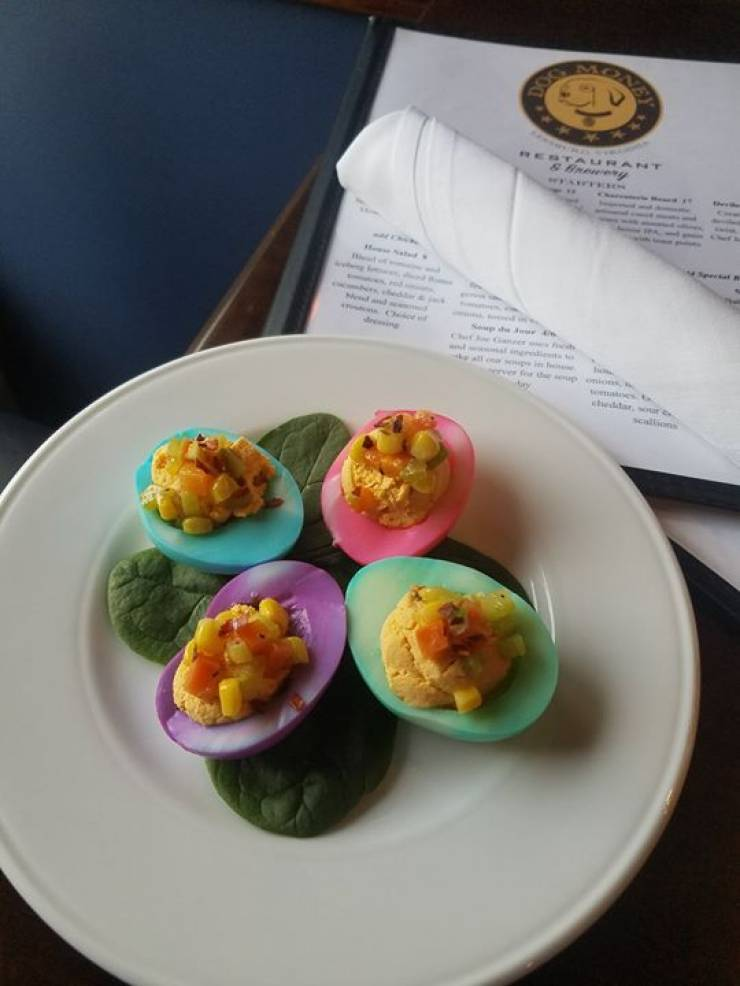 Special Deviled Egg For Easter – Brunch or All Day! Easter Egg Colored Deviled…