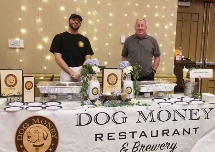 Dog Money Owner and GM Tim Regan and Cook Extraordinaire Matthew Moore at 2019…