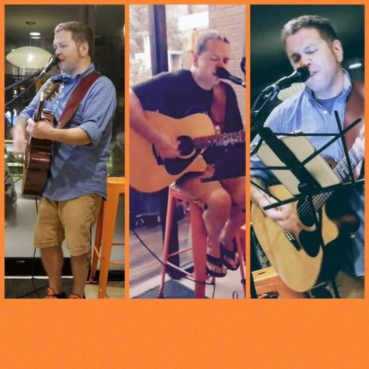 Warm and Sunny Saturday on the Patio at Dog Money! Live Music with Jeff…